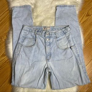 GUESS Vintage 90's High Waist Light Wash Jeans 33
